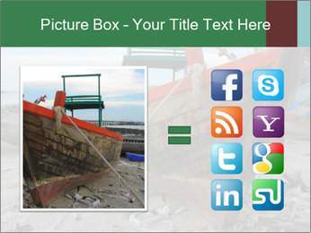 Fishing boat on the beach PowerPoint Template - Slide 21