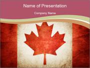 Flag of Canada PowerPoint Template