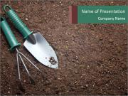 Soil with shovel PowerPoint Template