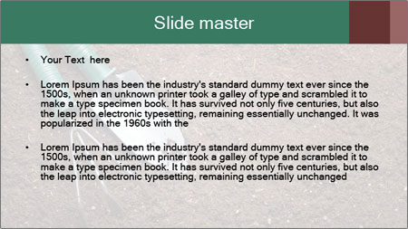 Soil with shovel PowerPoint Template - Slide 2