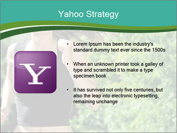 Young woman jogging PowerPoint Template - Slide 11
