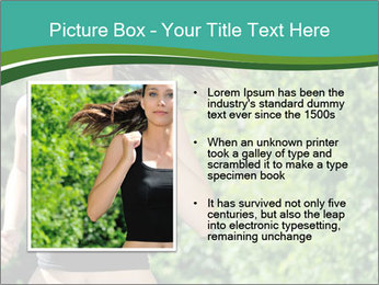 Young woman jogging PowerPoint Template - Slide 13