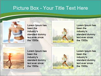 Young woman jogging PowerPoint Template - Slide 14