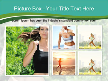Young woman jogging PowerPoint Template - Slide 19