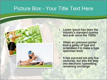 Young woman jogging PowerPoint Template - Slide 20