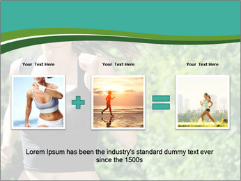 Young woman jogging PowerPoint Template - Slide 22