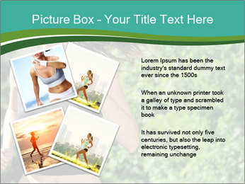 Young woman jogging PowerPoint Template - Slide 23
