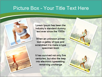 Young woman jogging PowerPoint Template - Slide 24