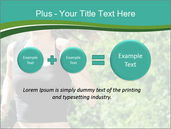 Young woman jogging PowerPoint Template - Slide 75