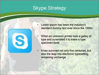 Young woman jogging PowerPoint Template - Slide 8