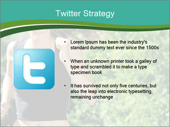 Young woman jogging PowerPoint Template - Slide 9