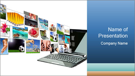 Multimedia streaming PowerPoint Template