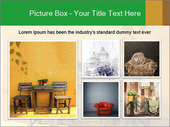 Old vintage wooden chair PowerPoint Template - Slide 19