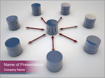 Symbolic Data Exchange PowerPoint Template - Slide 1