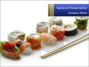 Fresh Sushi PowerPoint Templates
