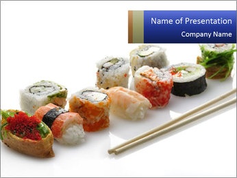 Fresh Sushi PowerPoint Template - Slide 1
