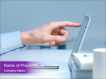 Hand pointing PowerPoint Template - Slide 1