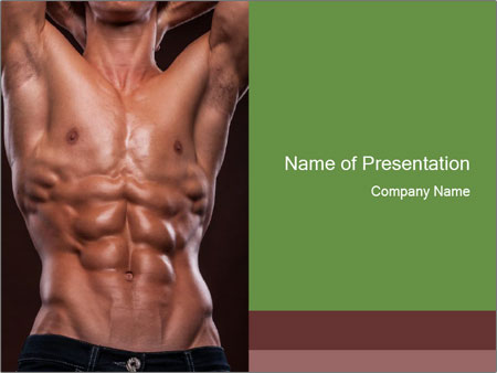 Male torso PowerPoint Template