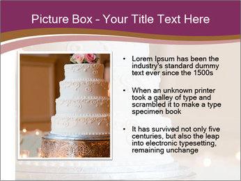 A multi level white wedding cake PowerPoint Template - Slide 13