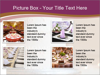 A multi level white wedding cake PowerPoint Template - Slide 14