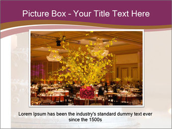 A multi level white wedding cake PowerPoint Template - Slide 15