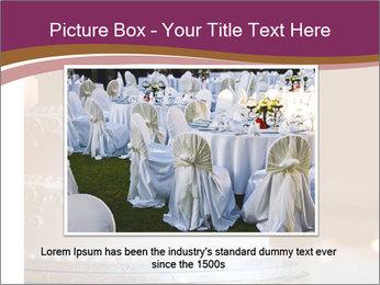 A multi level white wedding cake PowerPoint Template - Slide 16