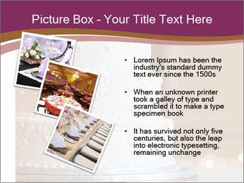 A multi level white wedding cake PowerPoint Template - Slide 17