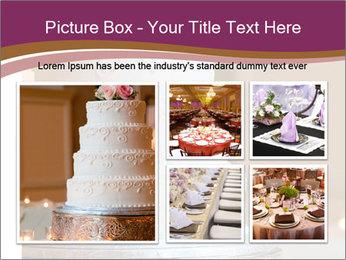 A multi level white wedding cake PowerPoint Template - Slide 19