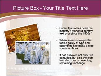 A multi level white wedding cake PowerPoint Template - Slide 20