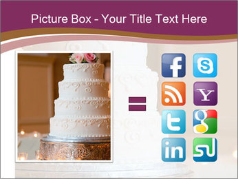 A multi level white wedding cake PowerPoint Template - Slide 21
