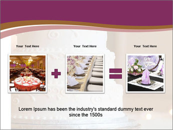 A multi level white wedding cake PowerPoint Template - Slide 22