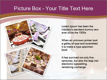 A multi level white wedding cake PowerPoint Template - Slide 23