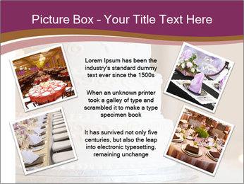A multi level white wedding cake PowerPoint Template - Slide 24