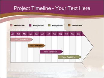 A multi level white wedding cake PowerPoint Template - Slide 25