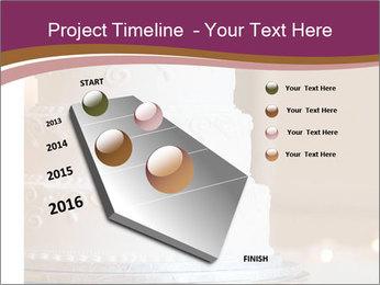 A multi level white wedding cake PowerPoint Template - Slide 26