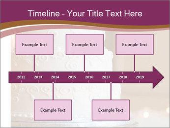A multi level white wedding cake PowerPoint Template - Slide 28