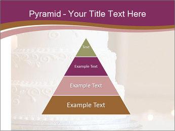 A multi level white wedding cake PowerPoint Template - Slide 30