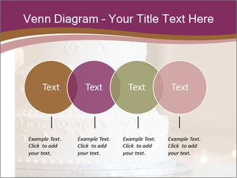 A multi level white wedding cake PowerPoint Template - Slide 32