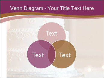 A multi level white wedding cake PowerPoint Template - Slide 33
