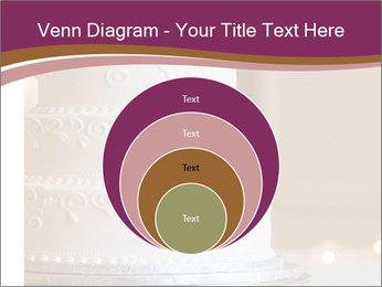 A multi level white wedding cake PowerPoint Template - Slide 34