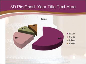 A multi level white wedding cake PowerPoint Template - Slide 35