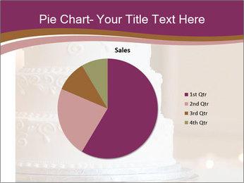 A multi level white wedding cake PowerPoint Template - Slide 36