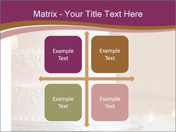 A multi level white wedding cake PowerPoint Template - Slide 37