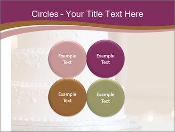 A multi level white wedding cake PowerPoint Template - Slide 38