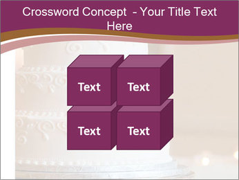 A multi level white wedding cake PowerPoint Template - Slide 39