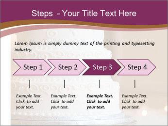 A multi level white wedding cake PowerPoint Template - Slide 4