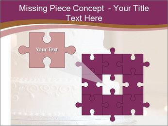 A multi level white wedding cake PowerPoint Template - Slide 45