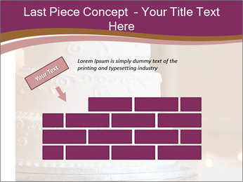 A multi level white wedding cake PowerPoint Template - Slide 46