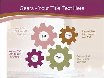 A multi level white wedding cake PowerPoint Template - Slide 47