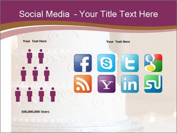A multi level white wedding cake PowerPoint Template - Slide 5
